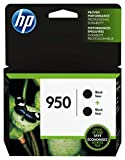 HP L0S28AN  950 Black Ink Cartridge, 2 Ink Cartridges (CN049AN) for  Officejet Pro 251, 276, 8100, 8600, 8610, 8620, 8625, 8630…