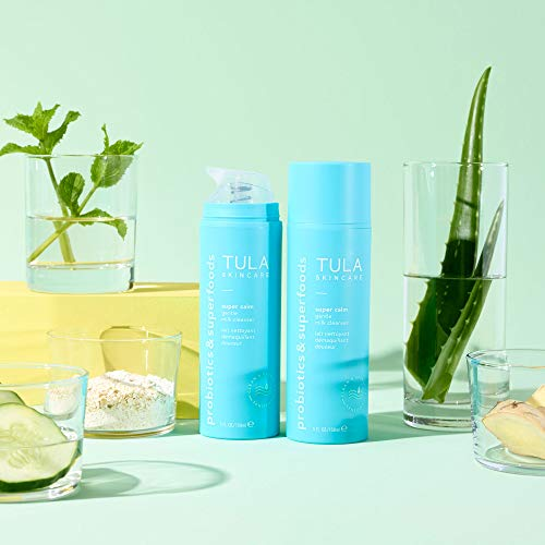 TULA Skin Care Super Calm Gentle Milk Cleanser | Nourishing and Calming for Sensitive Skin with Colloidal Oatmeal, Cucumber & Ginger | 5 fl. oz.