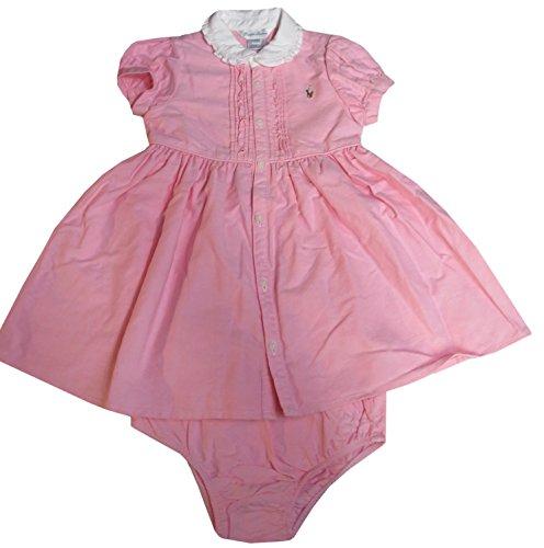 Ralph Lauren Infant Girls 2 Piece Short Sleeve Dress Pink (6 Months)