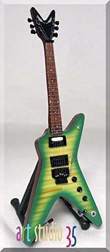 DIMEBAG DARRELL Miniature Mini Guitar Green Slime Pantera ()