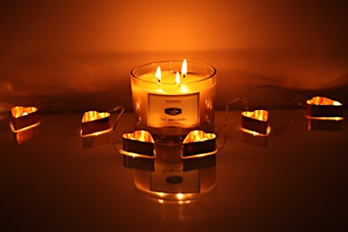 White Tea and Ginger Scented Candles 13oz Aromatherapy Large 3 wick Candle Natural Wax, Gift Candle for Mothers Day by Caitlins Home (Image #7)