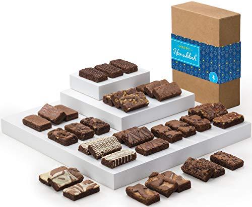 - Fairytale Brownies Hanukkah Sprite 36 Gourmet Chocolate Kosher Food Gift Basket - 3 Inch x 1.5 Inch Snack-Size Brownies - 36 Pieces - Item CK236