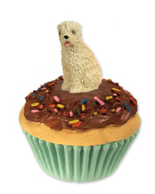 Conversation Concepts Soft Coated Wheaten Terrier Pupcake Trinket Box (Stone Pupcake Terrier)