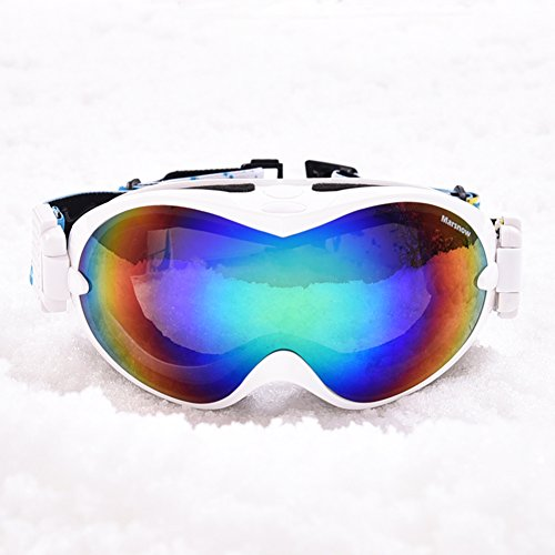 SE7VEN Ultra Wide-ange Sphérique Ski Goggles,Équipement De Plein Air Ski Lentille Double Couche Anti-buée Lunettes Myopie Compatible Unisexe Snowboard Goggle F