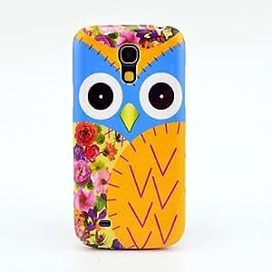 conseguir Pattern Owl Bastante duro Volver Funda para el Samsung Galaxy S4 Mini I9190