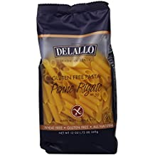 DeLallo Gluten Free Corn and Rice, Penne Regate, 12-Ounce (Pack of 12)