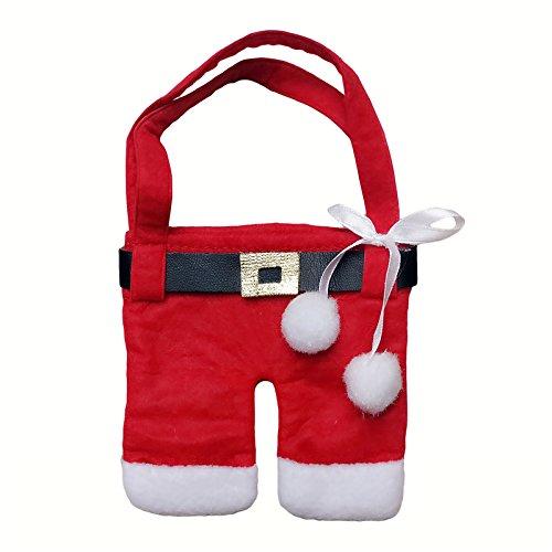 valoxin (TM) 12/Borsa a mano Babbo Natale vestiti borsa porta posate posate tasche coltelli forchette Xmas Party Decorazioni per la tavola