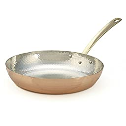 Kuprum 11-Inch Hand Hammered Solid Natural Copper Fry Pan
