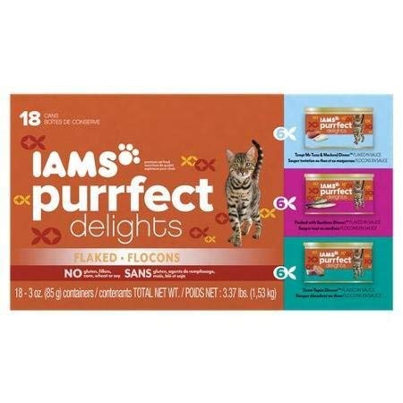 Iams Purrfect Delights 18-Can Variety Pack Canned Cat for sale  Delivered anywhere in USA