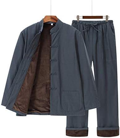 PILIBEIBEI Tapones de algodón Pantalones de Hombre, Tai Chi Ropa Wing Chun Kung Fu Ropa, además de Terciopelo Artes Marciales de Kung Fu de la Chaqueta Juego de la Espiga,C,XXXL: Amazon.es: Hogar