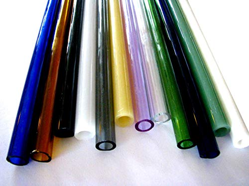 Devardi Glass Boro Tubing, COE 33, 12 Borosilicate 12mm Mixed Colors 12 Inch Tubes