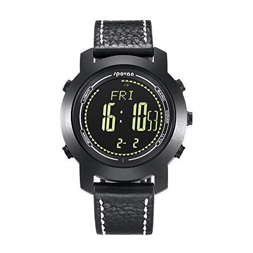 WWGG Reloj Inteligente, Deportes Al Aire Libre Reloj De Cristal De Zafiro Multi-Función Altímetro Barómetro Cronógrafo...