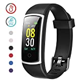 3. YAMAY Fitness Tracker with Blood Pressure Monitor Heart Rate Monitor Watch,IP68 Waterproof Activity Tracker 14 Modes Smart Watch with Step Counter Sleep Tracker,Fitness Watch for Women Men (Black)