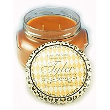 Tyler Glass Jar Candle - 22 Oz Long Burning Scented Candle - Pumpkin Spice Fragrance