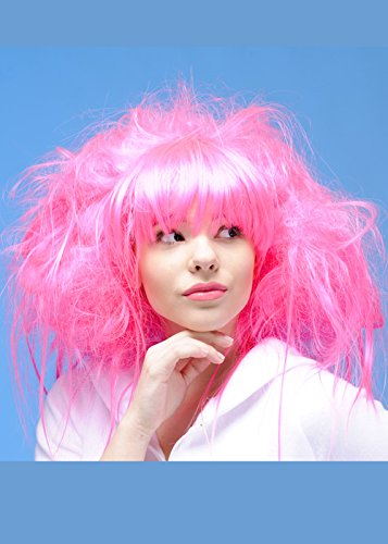 Womens Princess Deluxe Bright Pink (Deluxe Marie Antoinette Wig)