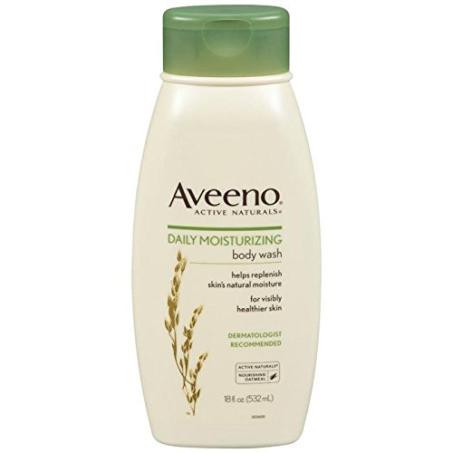 Aveeno Daily Moisturizing Body Wash with Soothing Oat, Creamy Shower Gel, Soap-Free and Dye-Free, Light Fragrance, 18 fl. oz (Best Mens Body Moisturiser)