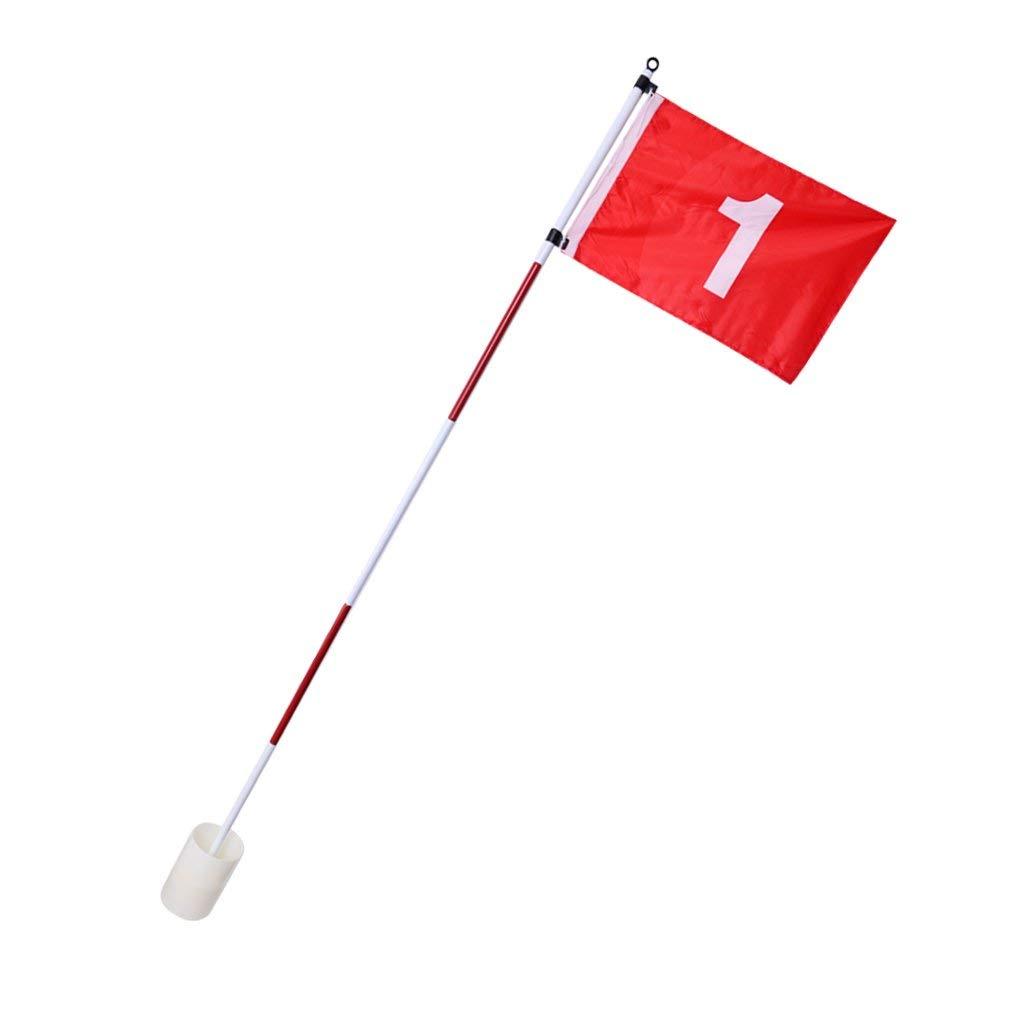 shangmu ゴルフ フラッグスティック 裏庭 練習 ゴルフ ホール ポール カップ フラッグスティック 5セクション ゴルフ スポーツ 庭 ガーデン トレーニング用   B07PVYFTK7