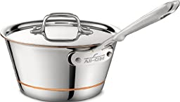 All-Clad 6212.5 Copper Core 5-Ply Bonded Dishwasher Safe Windsor Pan with Lid / Cookware, 2.5-Quart, Silver