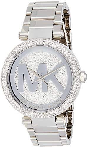Michael Kors Women's Parker Silver-Tone  Watch MK5925 (Kors Michael Rhinestone Watch)