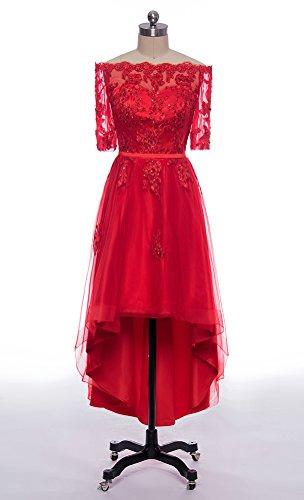 Blue Prom High Bridesmaid Shoulder Appliques Off Sleeves 2 Low Kevins Bridal Dresses Dress 1 Royal wtvWnqf65q