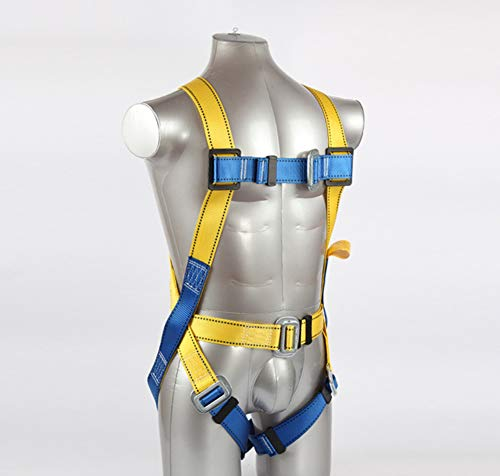 Safety Fall Arrest Harness Kit, Five Points Full Body Double Hook Safety Harness For Labor Working Construction Worker Protect Equipment With Buffer by MF@sqy (Image #5)