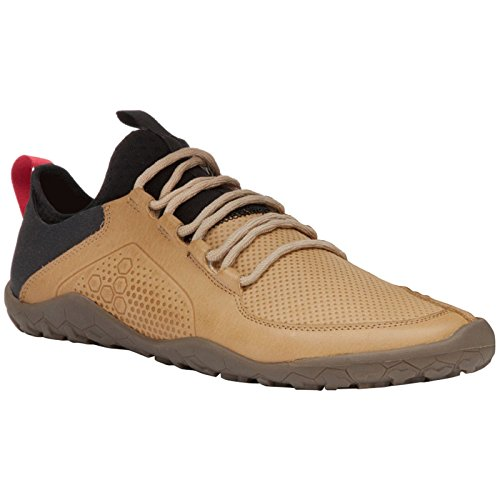 Vivobarefoot Mens Primus Trek Tan Leather Trainers 42 EU Review