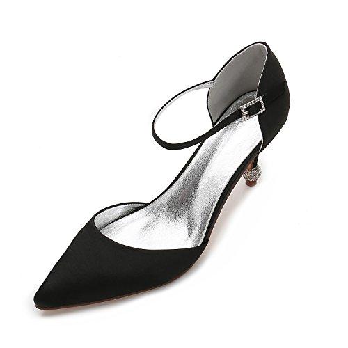 matrimonio Alla scarpe donne per luce partito gran High di un Heeled Qingchunhuangtang Heel Nero della scarpe regalo adulti moda scarpe del numero High scarpe punta dzTT5w7pB