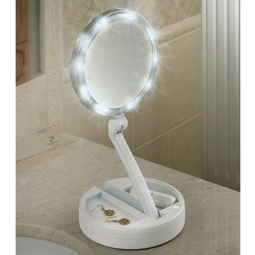 The Brighter Foldaway Vanity Mirror by Hammacher Schlemmer