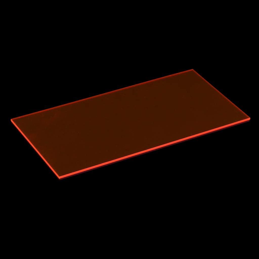 ZOOMY 10 /× 20 cm Tablero de plexigl/ás de Color Hoja de acr/ílico DIY Accesorios para Juguetes Fabricaci/ón de Modelos Azul Transparente