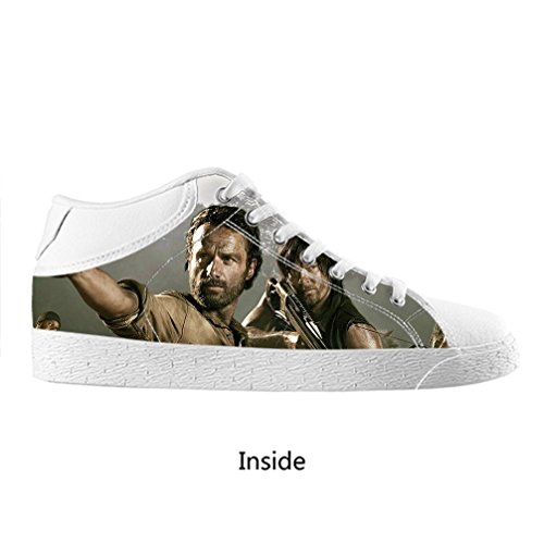 DONGMEN The Walking Dead Fashion Men's Custom Chukka Canvas Shoes,US10