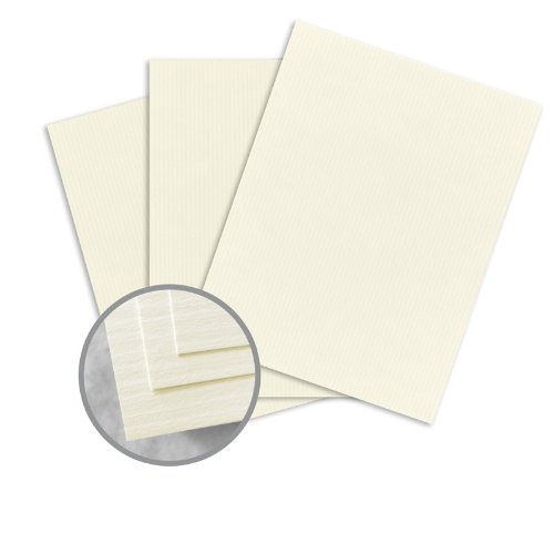 (CLASSIC COLUMNS Classic Natural White Card Stock - 18 x 12 in 80 lb Cover Lineal Digital 250 per Package)