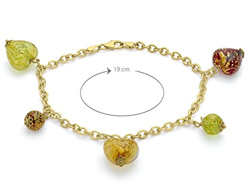 Carissima Gold - Bracelet - 1.23.4592 - Femme - Or Jaune 375/1000 (9 Cts) 1.2 Gr - Semi Précieuses