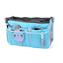 ArRord Handbag Pouch Bag in Bag Organiser Insert Organizer Tidy Travel Cosmetic Pocket Blue