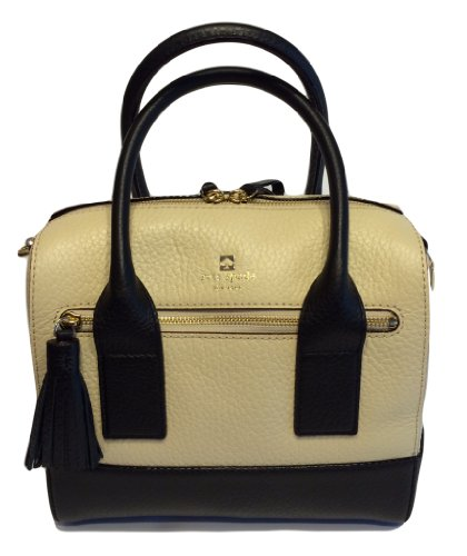 Kate Spade Southport Avenue Alessa Buttermilk/Black Handbag WKRU1801 - Christian Dior Designer Purse