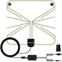 Marceloant Indoor HDTV Digtial Antenna, Detachable Amplified to 60 Mile Plus Range, Digital TV Antenna Super Thin,Soft and Transparent by USB Power Supply LTTV-148A