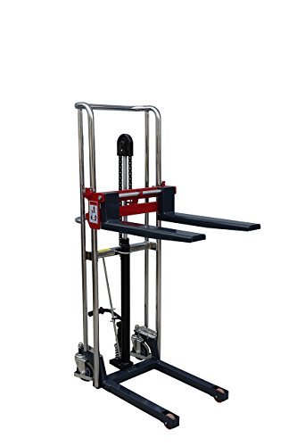 Manual Handling - Pake Handling Tools - Manual Fork Type Stacker, 880 lbs Capacity