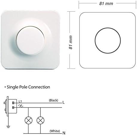 220/V CA, 1/A, Max. 200/W, control de brillo variable para bombillas LED blanco, 1 0 watts 230 volts Viribright/ /Regulador de intensidad LED