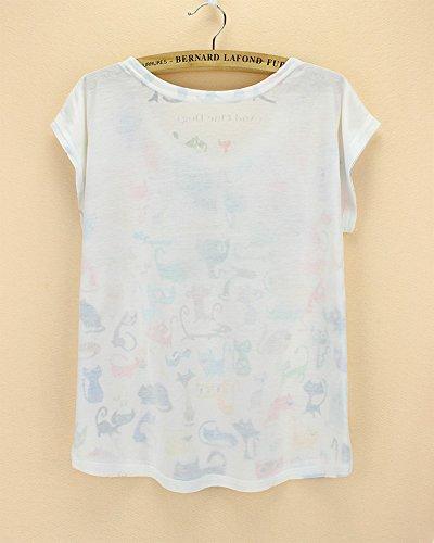 Taille Acvip Blouse Motif Courte shirt Unique Imprimé Top Eté Animaux Avec Manche T Femme TT4wSP