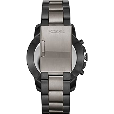 Fossil Q Grant Hybrid 44mm Smartwatch - Stainless Steel/Smoke-Tone FTW1139