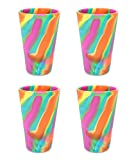 Silipint Silicone Pint Glass Set, Patented, BPA-Free, Shatter-proof Silicone Cup Drinkware (4-Pack Hippy Hop) Review