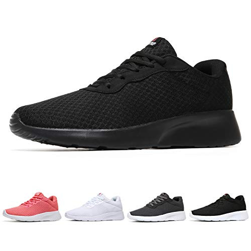 (MAIITRIP Womens Tennis Shoes Fashion Gym Ladies Lightweight Casual Jogging Walking Sport Athletic Sneakers All Black Size 8)