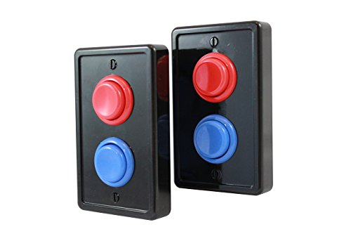 Arcade Light Switch Plate - Single Switch (2 pack- Black/Red/Blue)