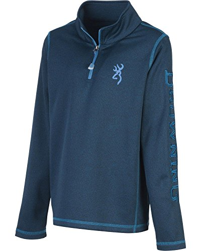 boys pitch quarter zip long sleeve shirt