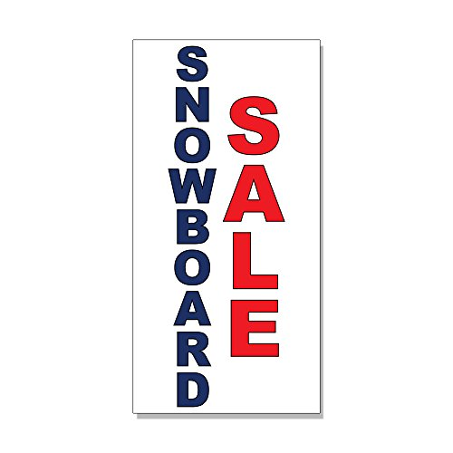 Snowboard Sale Blue Red DECAL STICKER Retail Store Sign - 9.5 x 24 inches