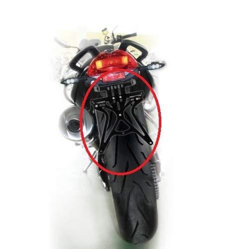 COMPATIBILE CON HONDA TRANSALP XL 650V PORTATARGA REGOLABILE PER MOTO LAMPA AERO-X 90146 SUPPORTO TARGA OMOLOGATO UNIVERSALE NON SPECIFICO NERO 270X190X35MM