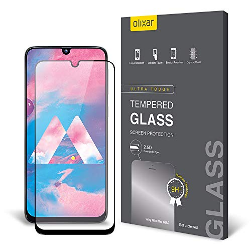 Price comparison product image Olixar Samsung Galaxy M30 Screen Protector,  [Tempered Glass] - Easy Application - 9H Hardness Anti Scratch,  Bubble Free,  Anti Fingerprint for Samsung Galaxy M30