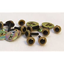 Sassy Bears 4.5mm Tan Safety Eyes for Bear, Doll, Puppet, Plush Animal and Craft - 10 Pairs