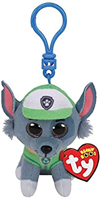 Amazon.com  T Y Ty Paw Patrol ROCKY - dog clip Plush Key Chain  Toys   Games 975d032f77ed