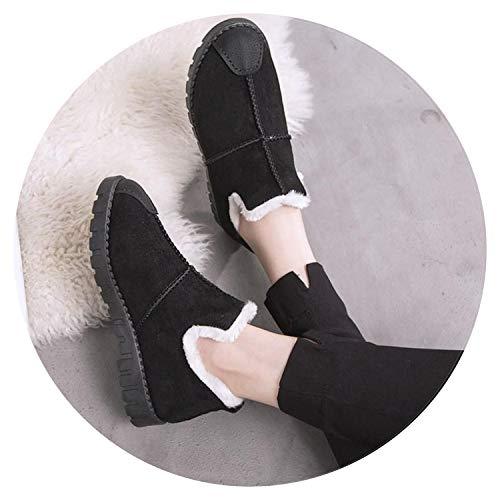 - Winter Super Warm Snow Boots Women Suede Ankle Boots Winter Shoes Botas Plush Booties,Black 1,38