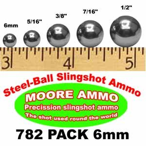 782-Pack 6Mm Steel-Ball Slingshot Ammo Bbs Pellets (1-1/2 (Use 6mm Bbs)